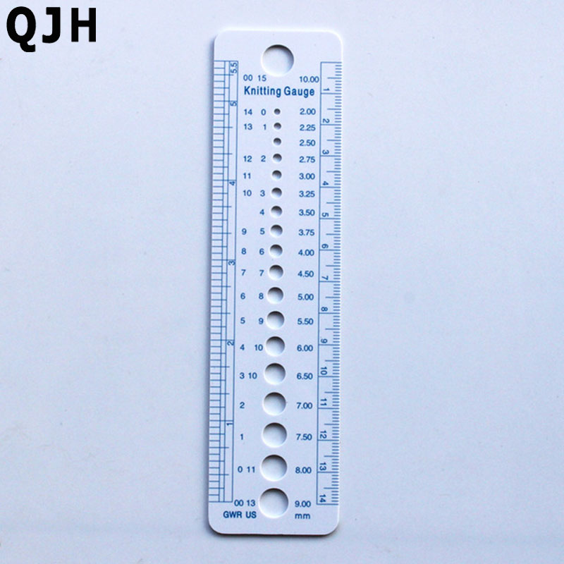 1pcs Plastic Sewte Knitting Needle Gauge Inch Cm Ruler
