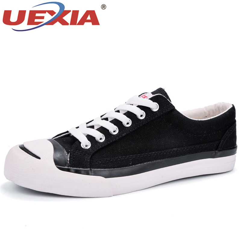 UEXIA 2018 New Mens Canvas Casual Shoes Classic Low top Old school Lite Shoes Fashion Cool Boys Male Lace up Flat Sneakers