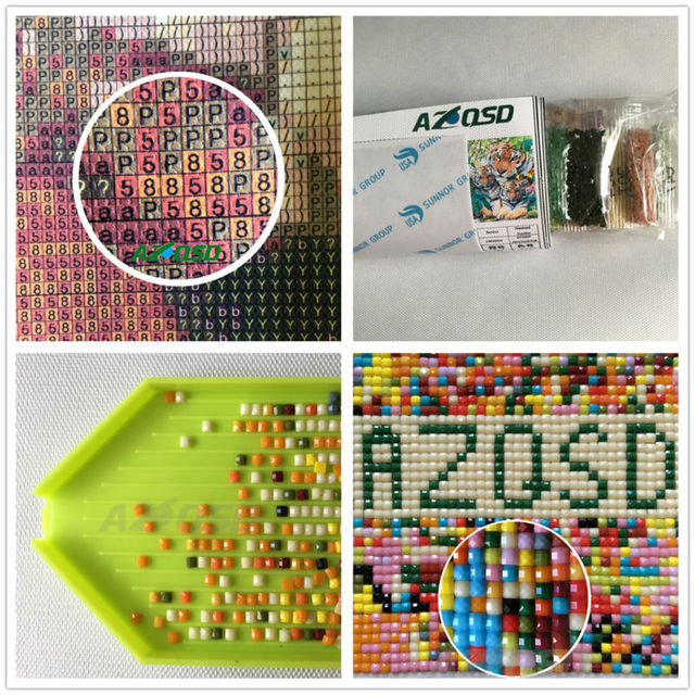 AZQSD Diamond mosaic full diamond embroidery Lake Red-crowned Crane diamond cross stitch crystal sets unfinished decorative d079