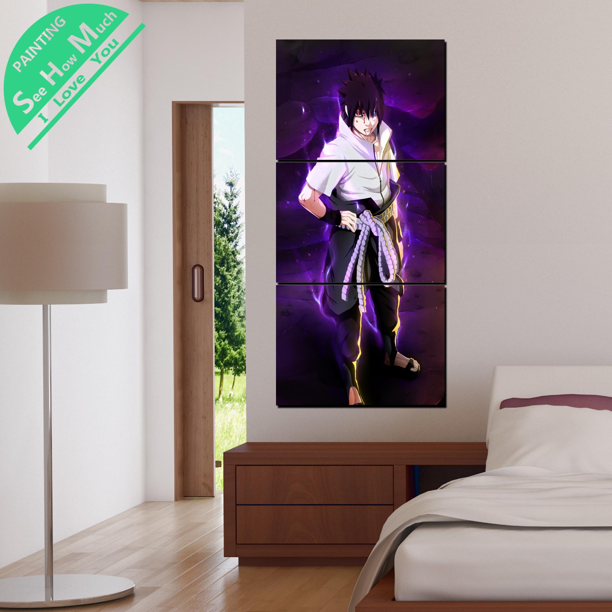 3 Piece Naruto Anime Canvas Decorative Picture Wall Poster Modern Wall Pictures for Living Room Posters and Prints in Painting Calligraphy from Home Garden