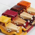 Free shipping 1pcs Vintage wooden car Model Baby Educational toys Birthday gift
