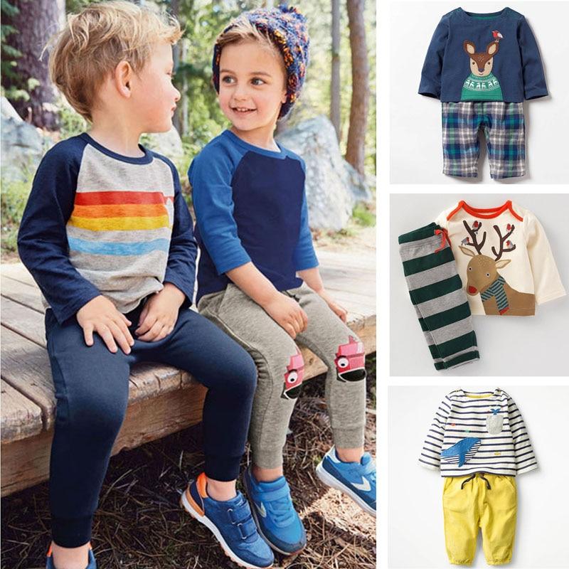 4af415a99 2019 nuevo bebé niños conjuntos de ropa de marca de los niños 100% algodón  de calidad de manga larga Camiseta pantalones 2 pc niños conjuntos de ropa  bebe ...