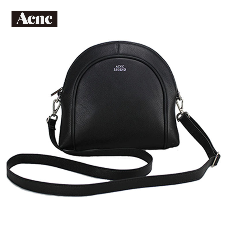 Newest Acnc Legend Women Half Moon Bag ,genuine Leather Women Shoulder Bags, Lady Real Leather  Handbag,free Shipping