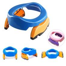 Новинка, портативный для малышей, камерные горшки, складные сиденья для унитаза, дорожный горшок, кольца с мочой, сумка для детей, голубой, розовый