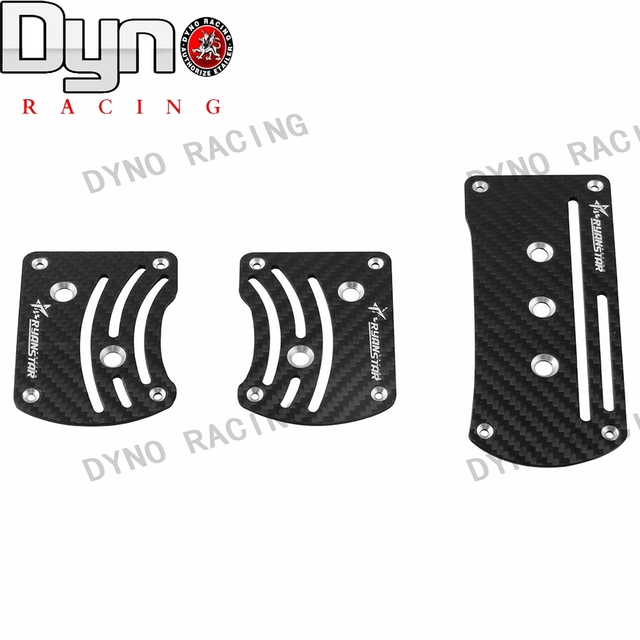 Dyno Free Shipping New arrived Ryanstar 3pcs universal carbon MT Pedal Gas Brake Footrest