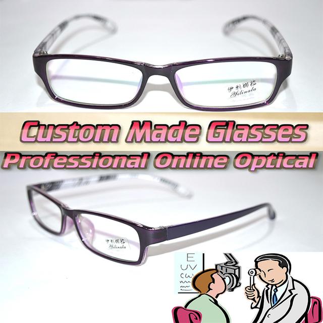 Óptico por encargo lentes ópticas borde completo TR90 púrpura gafas de lectura marco moda 1 1.5 2 2.5 + 3 + 3.5 + 4 + 4.5 + 5 + 6