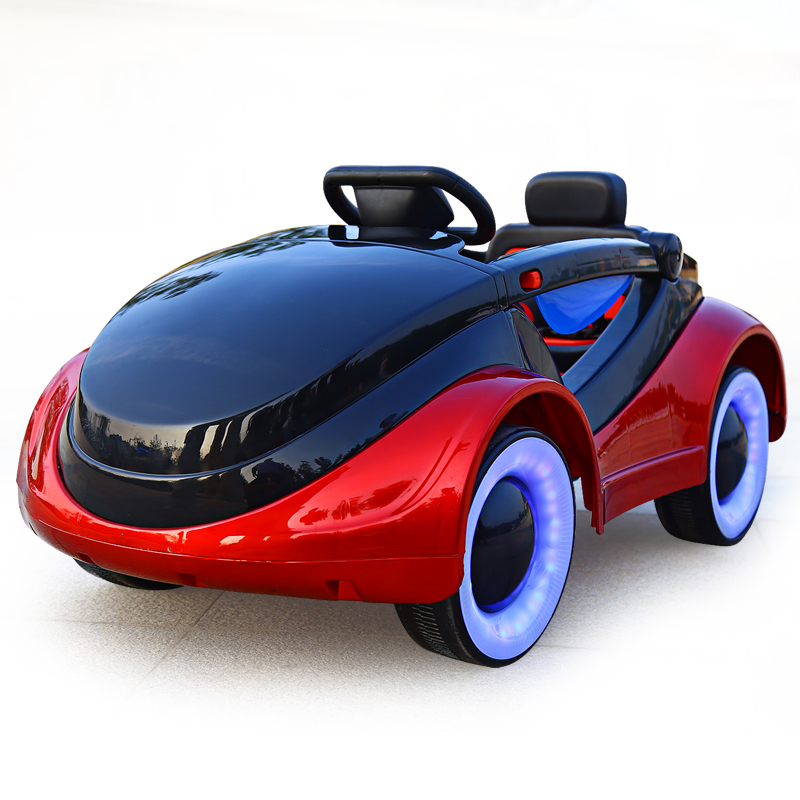 Children's Electric Car Four Wheel Remote Control Car Can Sit Boy Swing Baby Stroller Baby Toy Car Can Sit People