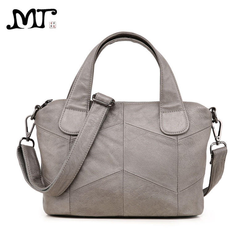 MJ Women Genuine Leather Bag Female Real Cow Leather Handbag Small Tote Bags Ladies Shoulder Handbag Messenger Bag for Women hahmes 100% genuine leather women s handbag crocodile pattern designer female real cow leather tote bag 28cm 10763