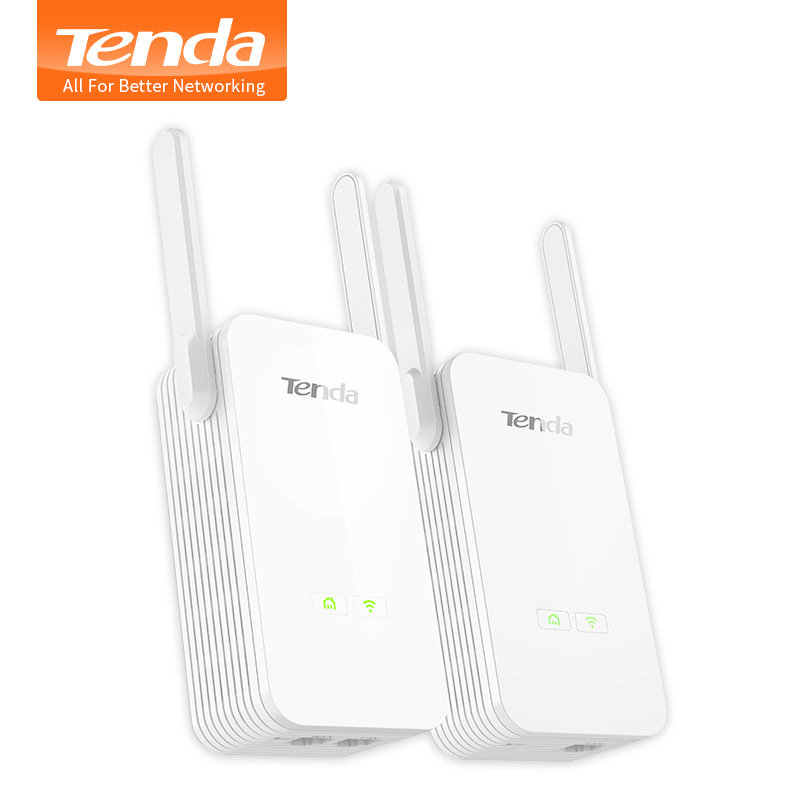 1 paire Tenda PH15 1000 Mbps adaptateur Ethernet Powerline, adaptateur réseau PLC, Extender WIFI sans fil, IPTV, Homeplug AV, Plug and Play