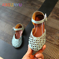 Sandals kids 2017 New Summer Shoes for Girls shoes girls hollow princess shoes kids girl weaving Baotou sandals girls flat shoes