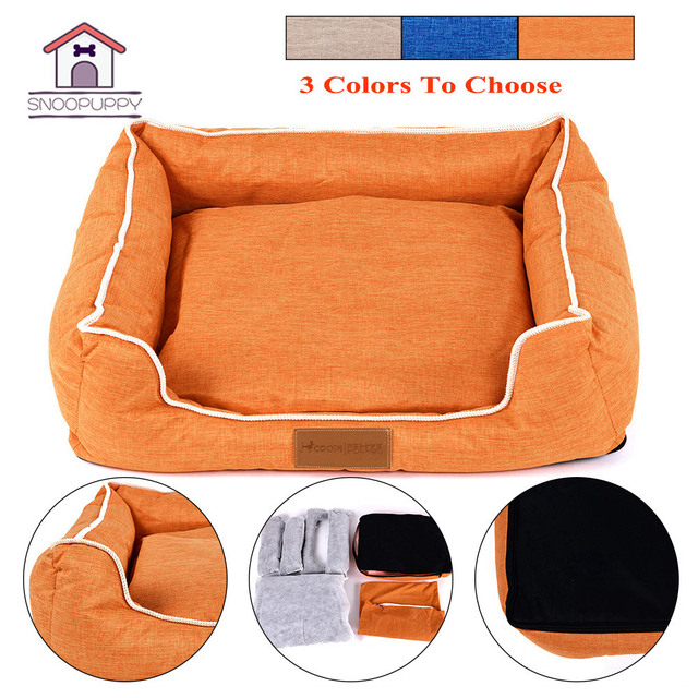 Dog Bed For Medium Dogs Cats Removable Cover Pet Bench Small Puppy Bed For Large Dogs Soft Cotton Bed Lounger Dog Product COO050