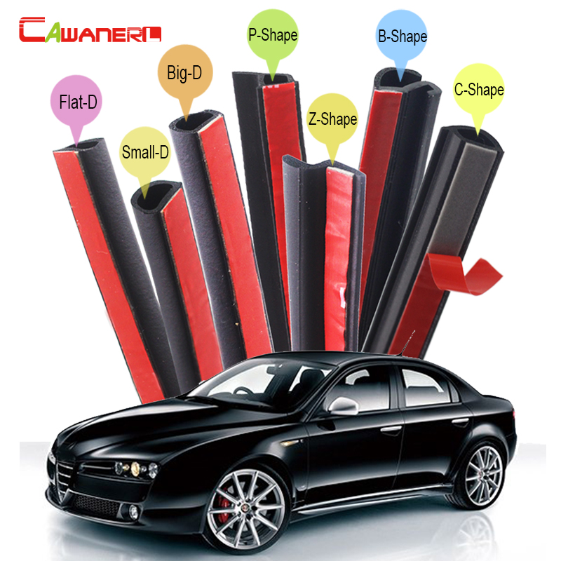 Cawanerl Car Seal Strip Kit Weatherstrip Sound Insulation Auto Rubber Sealing Seal Edge Trim For Alfa Romeo 159 166 alfa romeo 166 2 4 в ростове
