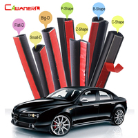 Car Seal Strip Kit Weatherstrip Sound Insulation Auto Rubber Sealing Seal Edge Trim Self Adhesive For