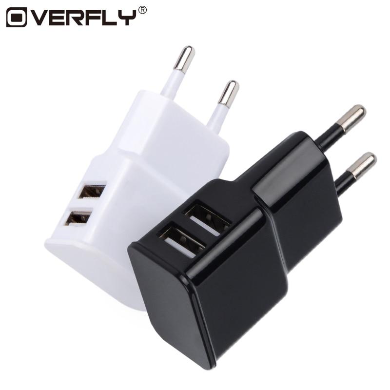 Dual USB EU Charger Plug Travel Wall Charger Adapter Univers
