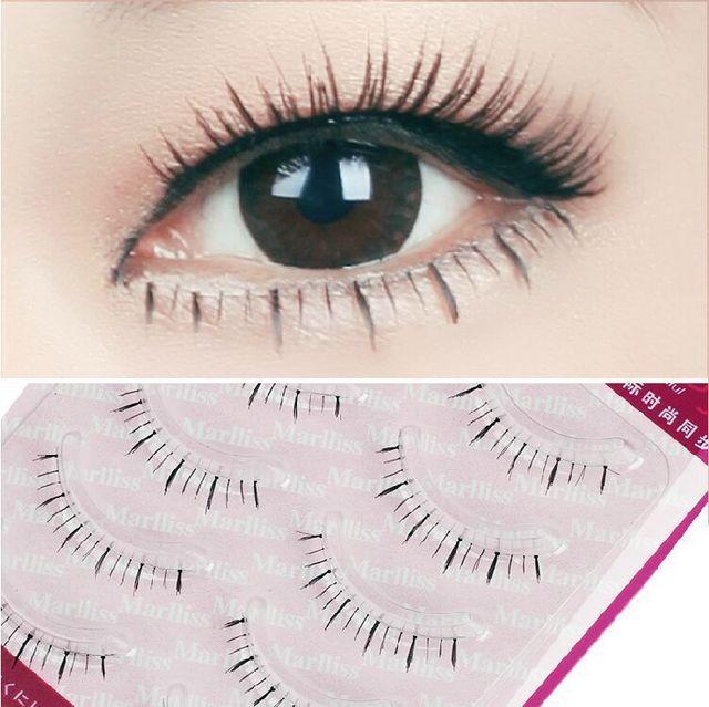 fbb7868c650 10 pair Natural Soft False Under Eyelashes Mink Fake Lower Eyelash Lashes  Cosmetics Bottom Lashes Wimper Extensions Kit X-12