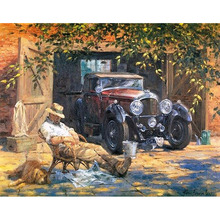 Frameless Relax Car DIY Painting By Numbers Landscape Picture Modern Wall Art For Home Decor 40x50cm