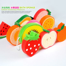 1-5pcs/pack Cartoon Bath Sponge Cleaning Sponge Bath Tn The