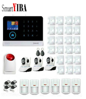 SmartYIBA App Control WCDMA Home security & 3G security Burglar Alarm System With Network Camera Smoke Sensor SMS Alarmes