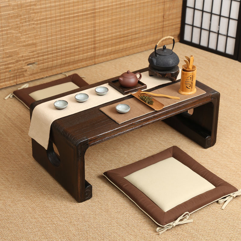 Oriental Furniture Chinese Low Tea Table Small Rectangle 80x39cm Living Room Side Table For Tea, Coffee Antique Gongfu Tea Table chinese yunnan puer 60g old ripe pu erh tea loose shu pu er tea green orangic food pu erh tea blood pressure slimming tea
