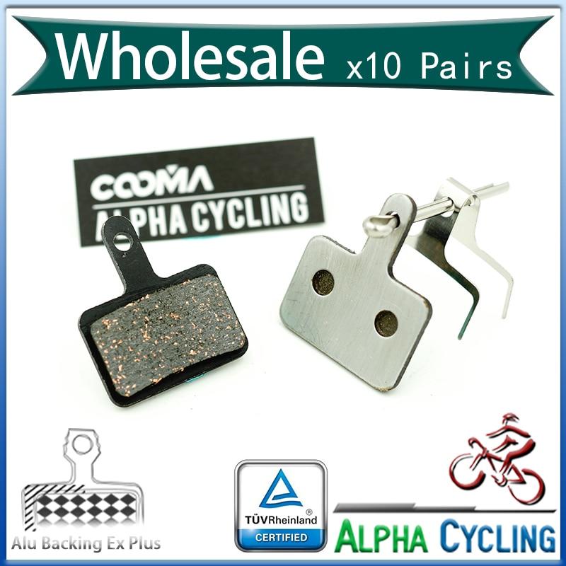Kočioni jastučići za bicikle za Shimano M446 / M416 / M515 / M375 / M395 / Acera / Alivio / Deore Disk kočnica, 10 pari, Leđa od aluminijske leđa