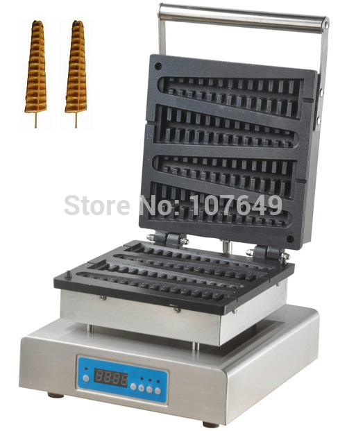 110V 220V Commercial Use Electric Digital Lolly on a Stick Waffle Maker Iron Machine