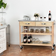 Rolling Kitchen Trolley Cart Island with