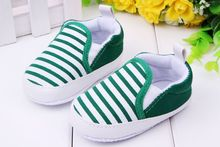 Baby Boy First Walkers Fashion Striped Canvas Infant First Walkers