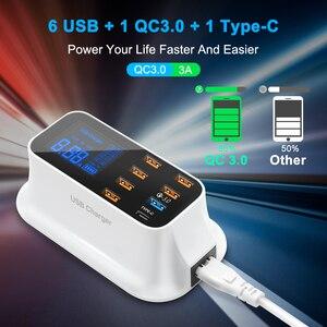 Image 2 - Rocketek ค่าเร็ว 3.0 สมาร์ท USB Type C สถานีชาร์จ USB จอแสดงผล LED ชาร์จอย่างรวดเร็วโทรศัพท์แท็บเล็ตสำหรับ iPhone ซัมซุงอะแดปเตอร์
