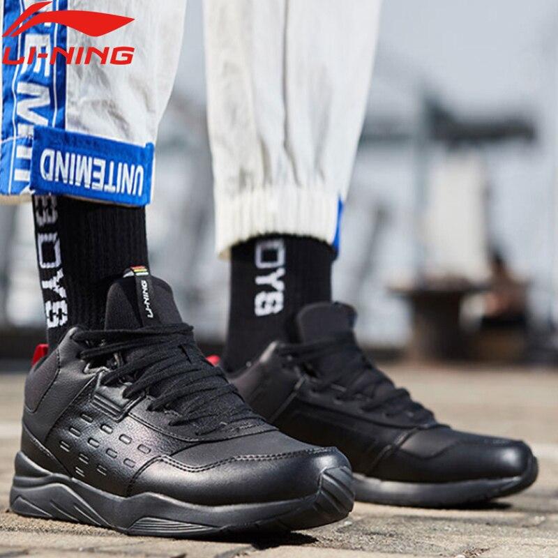 Li-ning hommes LN DEFENDER style de vie chaussures chaud polaire portable respirant doublure chaussures de Sport baskets classiques AGCN123 YXB234