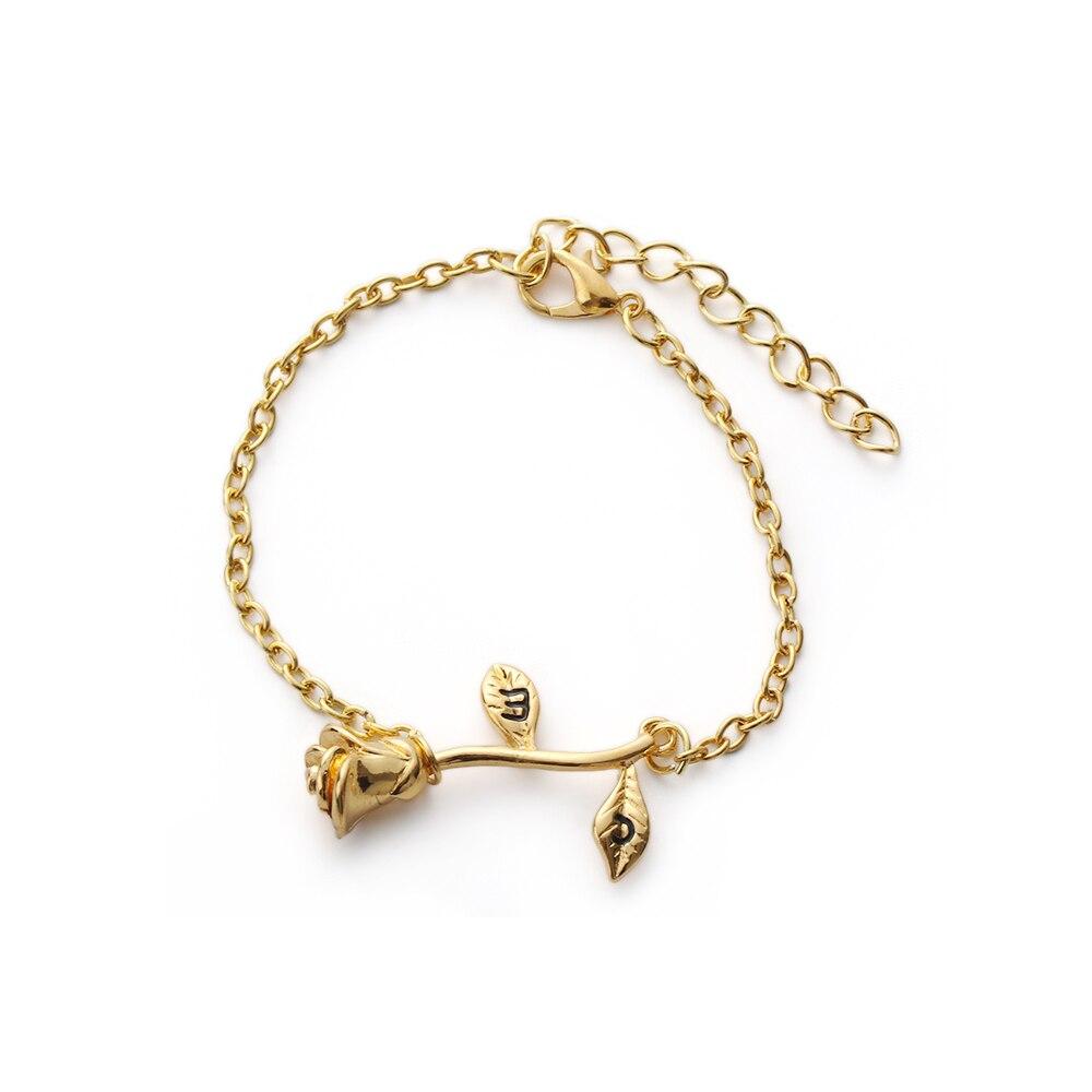 1Pcs Fashion Rose Flower Charm Bracelet For Women Chic Adjustable Bracelet & Bangle Wedding Bridal Jewelry Gift