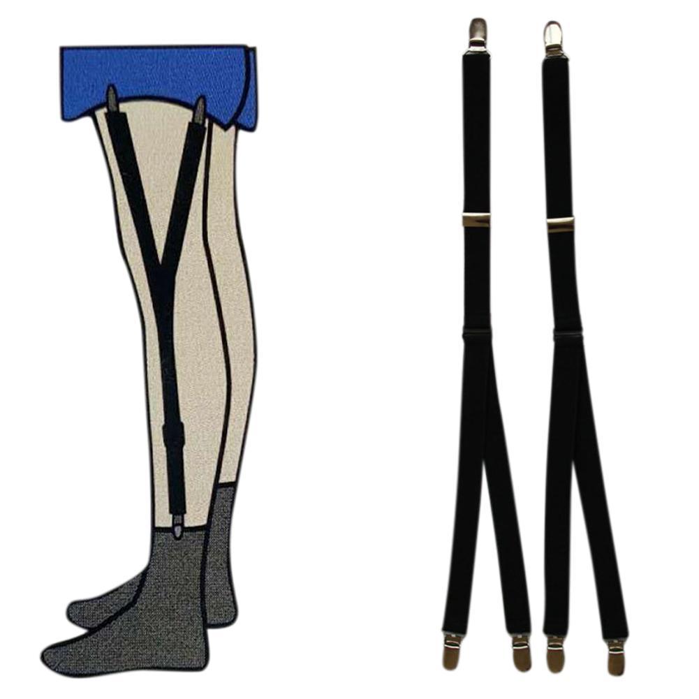 MISSKY Unisex Anti-slip Y Shape Stocking Suspender Hosiery Clips/Grips Wear Accessory