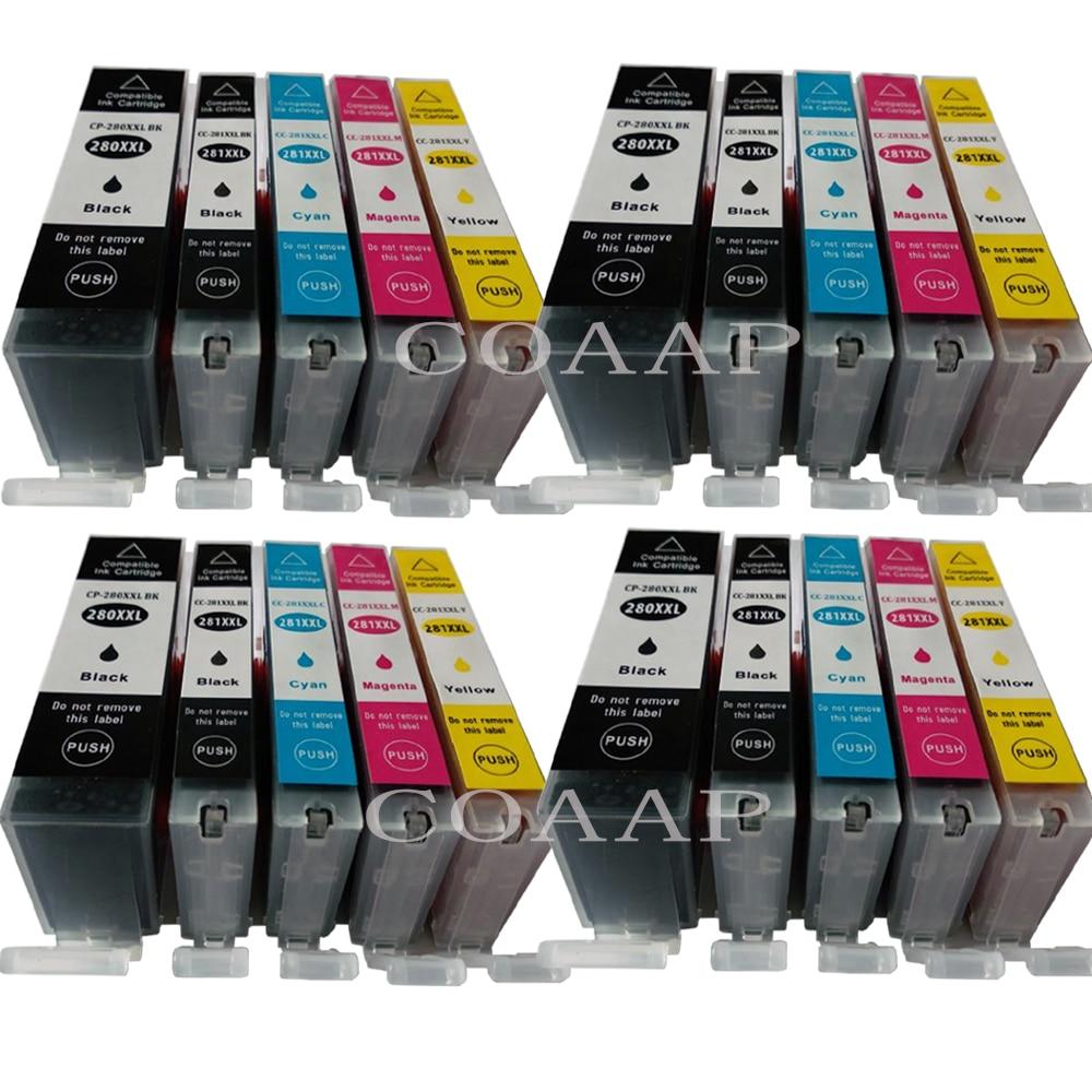PGI-280XXL CLI-281XXL Ink for Canon TR7520 TR8520 TS6120 TS8120 TS9120 Single
