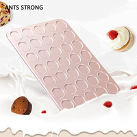 ANTS STRONG metal non stick biscuit pans/practical 35cup cake moulds muffin baking tray bakeware accessories