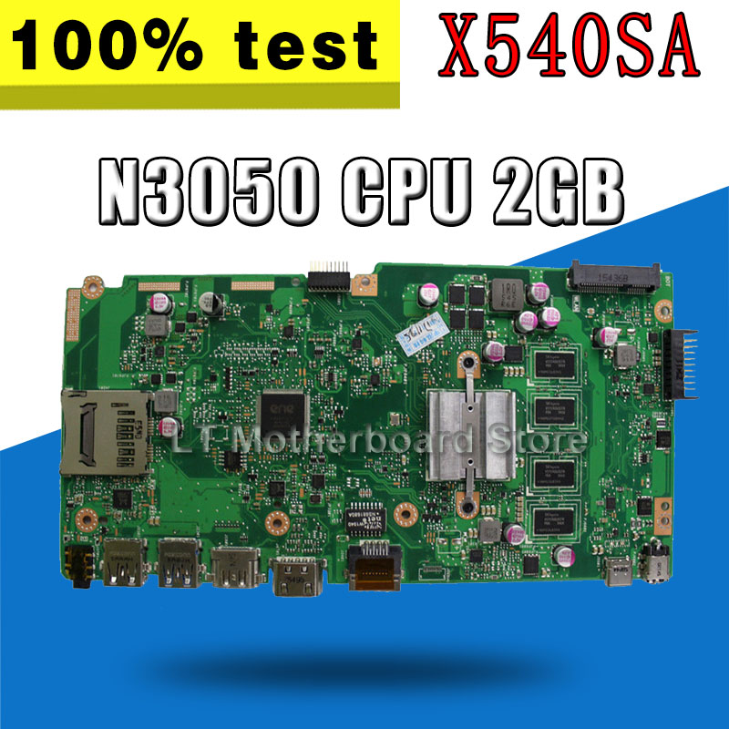with 2GB RAM N3050 N3060 CPU X540SA Laptop <font><b>motherboard</b></font> for <font><b>ASUS</b></font> VivoBook X540SA X540S <font><b>X540</b></font> F540S Test original mainboard image