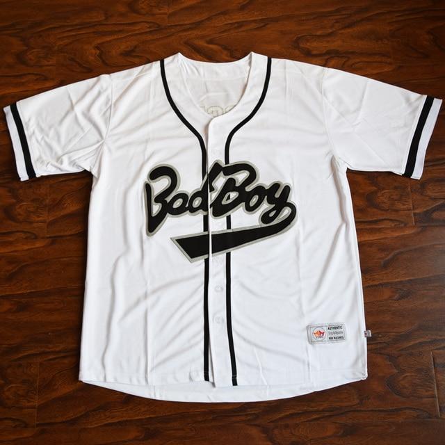 MM MASMIG Biggie  10 Bad Boy Baseball Jersey Stitched White-in ... fd466349c