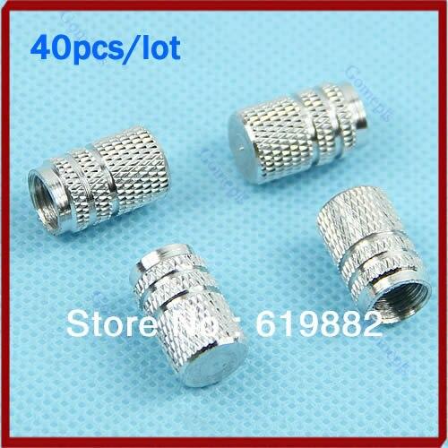 10sets (4pcs/set)/lot Tire Tyre Wheel Hexagonal Ventil Valve Stems Cap For Auto Car Truck Silver