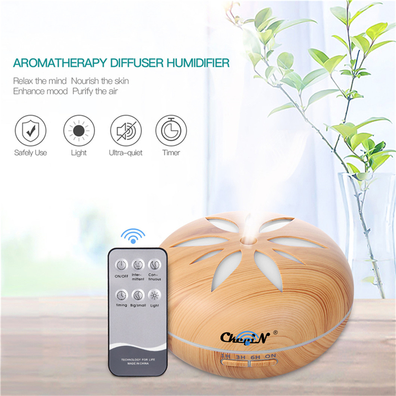 550mL Aroma Essential Oil Diffuser Ultrasonic Humidifier Air Purifier 7 Color Change LED Light  difusor de aroma Office Home Use550mL Aroma Essential Oil Diffuser Ultrasonic Humidifier Air Purifier 7 Color Change LED Light  difusor de aroma Office Home Use