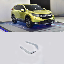 Car Accessories Exterior Decoration ABS Chrome Front Fog Lamp Light Trims For Honda CRV 2018 Styling Accessories!
