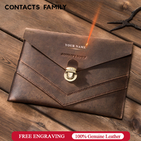 100% Genuine Leather Case for iPad Air 3 10.5 2019 / iPad Pro 10.5 2017 bag for iPad Pro 11 2018 Envelope sleeve cover with lock