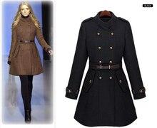 Always Trending Double Breasted Woolen Jacket Women s Fall Winter Fashion Belted Wool Jackets