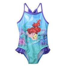 Baby Girls Swimsuit 2017 Hot Princess Striped Girls Kids Bathing Suit Swimwear Bikini Tankini Swimsuit Swimming Costume 2-7Y