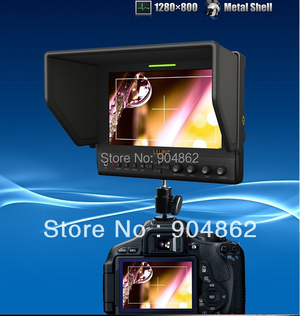 LILLIPUT NEW 7 inch  field monitor 663/O/P2, HDMI monitor with Metal Shell, IPS screen