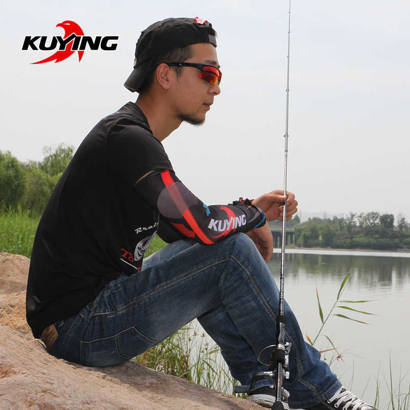 KUYING TOP CASTER 2.1M Spinning Casting Lure Fishing Rod Cane Stick Pole ML Light Soft 2 Section Carbon Medium Fast Action