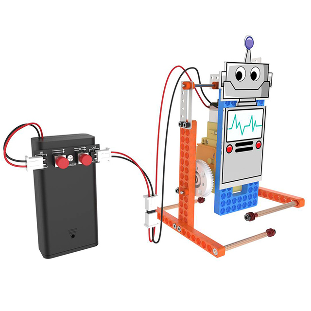 DIY STEM Toys for Children Physical Scientific Experiment Creativity Learning Educational Toy DIY Biped Robot Gift