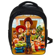 89e31d325a3 13 Inch Toy Story School Bags For Boys Girls Cartoon School Kids Backpack  Woody Roundup Backpacks