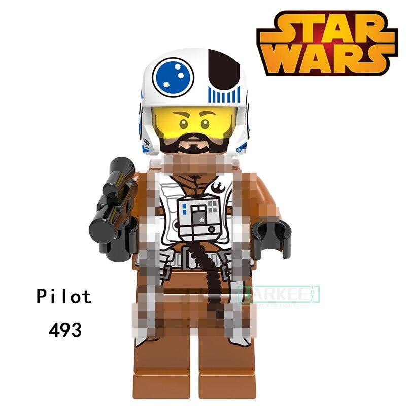 Building Blocks Pilot Princess Leia Ponda Baba Zander Super Heroes Star Wars Bricks Dolls Kids DIY Toys Hobbies XH493 Figures