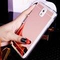 Chapeamento espelho suave tpu voltar case capa para samsung galaxy s3 s4 s5 S6 S7 A5 A7 A510 A710 J510 J710 J5 J7 2015 2016 Telefone case
