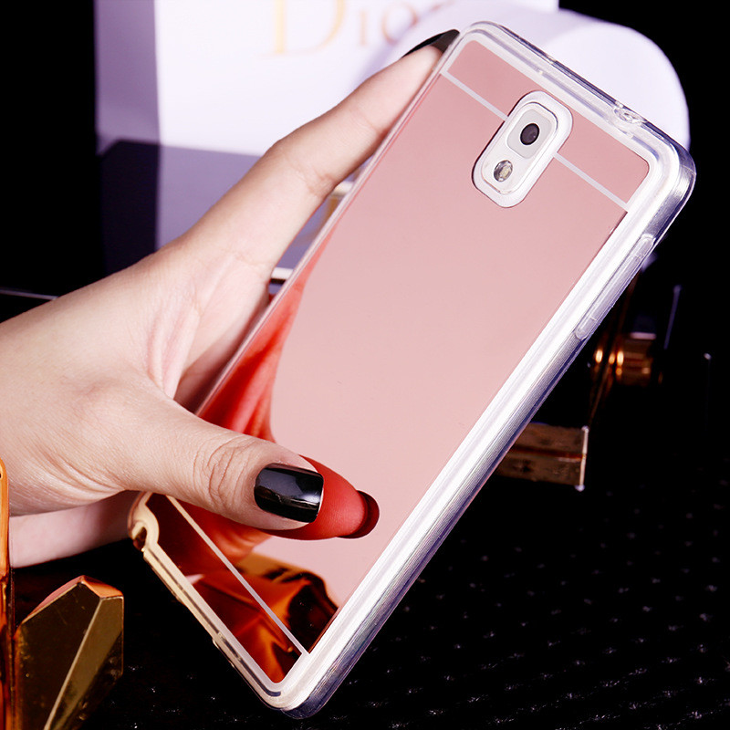 Plating Mirror Soft TPU Back Case Cover For Samsung Galaxy S3 S4 S5 S6 S7 edge Note3/4/5 A5 A7 A8 J5 J7 2015 2016 Phone Case
