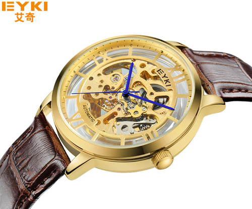 New trend belt waterproof mechanical men s watch men s retro hollow automatic mechanical men s