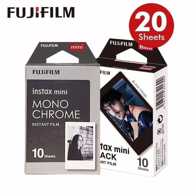f8a007b701 2017 Genuine Fujifilm Fuji Instax Mini Film AIR MAIL Monochrome Mono Frame  .Film for 70